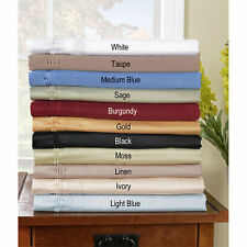 1000 Thread Count Egyptian Cotton Sheet Set US Queen Solid/Striped All Colors