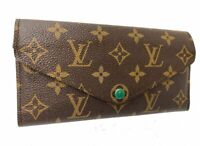 Louis Vuitton Long Wallet Portefeuille Josephine Browns Monogram 59919831