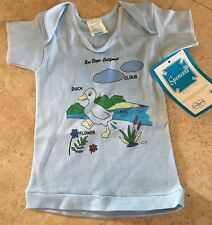 Baby Newborn Spencers 18 months Vintage New with Tags Duck San DIEGO Blue