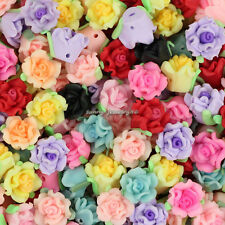 Wholesale 50pcs Mixed Polymer Fimo Clay Flower Loose Spacer beads 12mm SL98