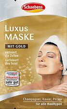 Schaebens - Face Mask / Masque - Gold Champagner Cavia Pearl - Original Germany