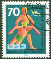 BRD 634 I gestempelt Bund Plattenfehler Strich auf Schulter Michel -- . --