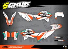 KTM EXC Dekor Set Grafik 125 250 300 450 530 2008-2011 '08 '09 '10 '11 SCRUB