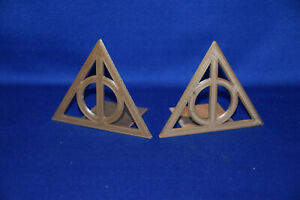 Deathly Hallows Harry Potter inspired ~ Bookends ~ 3D Printed in USA