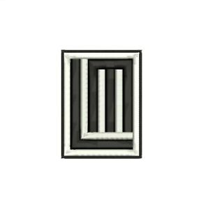LINDEMANN logo embroidered sew on patch