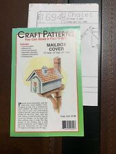 Craft patterns Wood mailbox cover Woodworking pattern New home project Chalet
