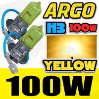 100w / 55w H1 H3 H4 H7 H8 H11 9006 Xenon Optics Halogen Lamps Super Yellow Bulbs