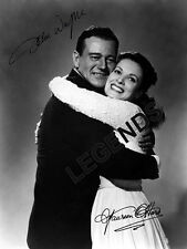 "John Wayne & Maureen O'Hara AUTOGRAPHED ""The Quiet Man"" 8x10 B&W Reprint JW-X25"