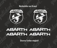 Abarth Sticker Set Aufkleber Decal Tuning Fiat Grande Punto 500 595 124 Spider