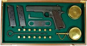 PISTOL GUN PRESENTATION CUSTOM DISPLAY CASE BOX for COLT m1911 A1  &  set m1912