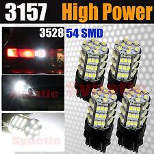 4x 3157/3156 Reverse Back-up Light Xenon 6000K White 54-SMD 3528 Chip LED Bulbs