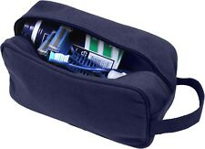 Tactical Travel Toiletry Bag Zipper Canvas Case Compact Organizer Portable Dopp