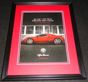 2015 Alfa Romero Framed 11x14 ORIGINAL Advertisement