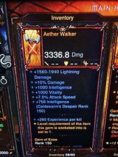 DIABLO 3 PRIMAL ANCIENT AETHER WALKER NEW PATCH 2.6 WIZARD WAND XBOX ONE