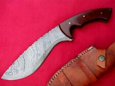 Best Custom hand made Damascus steel hunting knife micarta handle 14.50''