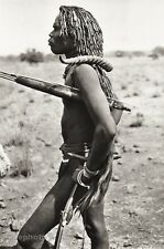 1934 Vintage AFRICA Ghana Native TRIBAL MAN Hunter Photo Antelope Horn 11x14