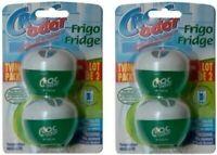 4x Croc Odor Fridge Deodoriser Neutralise Smell Odour Freshener - TWIN PACK