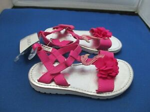 Girl's Carter's Strappy Pink Shoes (Size 8)