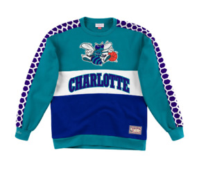 Charlotte Hornets Mitchell & Ness NBA Leading Scorer Fleece Crew Sweatshirt