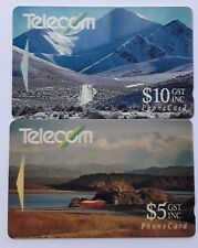 Telecom Phonecards  New Zealand NZ SCENERY 2 Cards Used Collectors