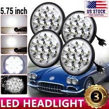 "4X 60W 5.75 5-3/4"" Round Led Headlights For Chevy GMC Corvette C1 C2 1963-1982"