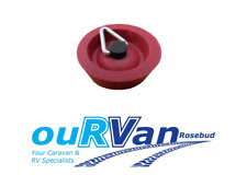 Caravan sink plug 25mm small red rubber with chain hook CAMEC 006064