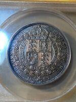 1887 Great Britain 1/2 Crown (Jubilee) Graded AU 55 by ANACS!!!
