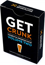 Get Crunk Volume 2 - The Brutal Card Drinking Game for Students, Pre Drinks, &