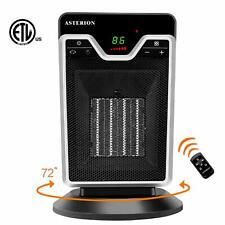 Portable Home Office Personal Electric 1500W Ceramic Room Space Heater Timer ECO