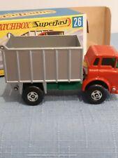 Matchbox Lesney 1968 GMC Tipper Truck #26 With Original Box