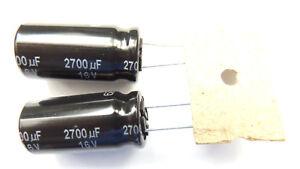 2700uf 16v 105c Low ESR Size 25mmx12.5mm  Panasonic EEUFR1C272 x2pcs
