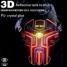 For Honda Suzuki KL Oil Tank Reflect light Pad Gas Protector Stickers Motorcycle