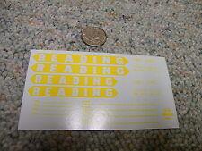 Herald King decals N Reading 40' box car 4.5' Reading Arrow logos yellow  XX98