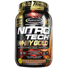 Nitro tech whey gold 34 serv 2.5 lbs Double Rich Chocolate Exp 7/19