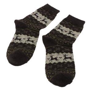 Warm Wool Blend Thick Elk Crew Socks Winter Outdoor Christmas Ankle Socks