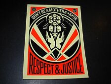 "SHEPARD FAIREY Obey Giant Sticker 4X5.5"" RESPECT JUSTICE from poster print"