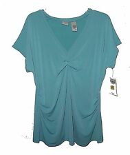 New Knit Top, Liz Claiborne Emma James Woman, Stretch Blue MSRP-$39.00 1X