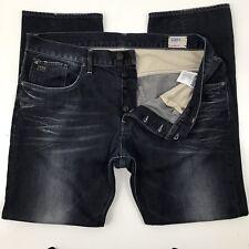 G-Star Raw Mens 3301 Straight Leg 40x32 Button Fly Distressed Measurements Below