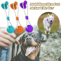 Multi Use Pet Dog Cat Molar Bite Toy Chew Bite-Resistant Suction Cup Ball Toy