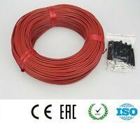 Carbon Fiber Heating Wire Floor Electric Warm Infrared Underfloor Heater Cable