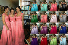 STOCK New Lace/Chiffon Formal Prom Party Ball Bridesmaid Evening Dress Size 6-22