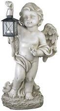 Gartenfigur Gartendeko Grabschmuck Engel mit Laterne für Teelicht Deko ANG987