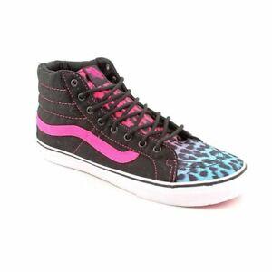 VANS Sk8-HI Slim Leopard Magenta Blue Black Shoe