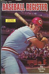 1974 The Sporting News Baseball Register Pete Rose Reds Willie Stargell Bucs HOF