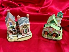 Vintage Lot Of 2 Liberty Falls Collection House Collectible Figurine