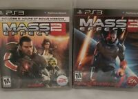 PS3 Mass Effect 2 & 3 PlayStation 3 Complete with Manual 2 Game Lot Bundle