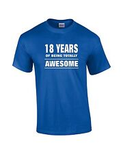 Quality Funny Birthday Party Gildan T-shirt   18 Years of Being Totally Awesome
