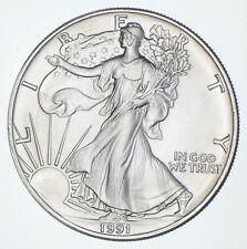 Better Date 1991 American Silver Eagle 1 Troy Oz .999 Fine Silver *914