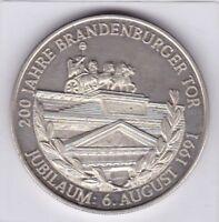 Brandenburger Tor 6. Aug 1991 PP 200 Jahre Deutschland Einigkeit Recht Freiheit