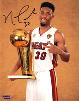 Norris Cole Miami Heat NBA #30 8x10 Signed Autographed Photo Trophy Picture